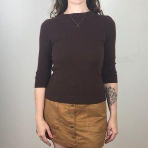 Brown Talbots Cashmere Sweater